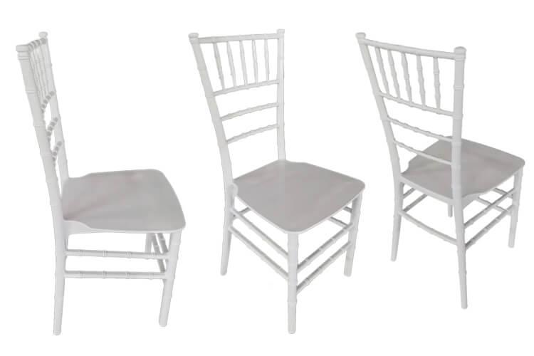 pc white monoblock chiavari chair