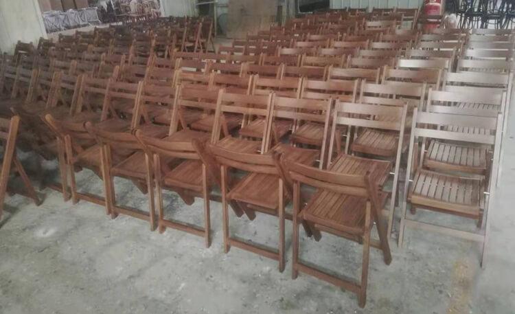 slat folding chair