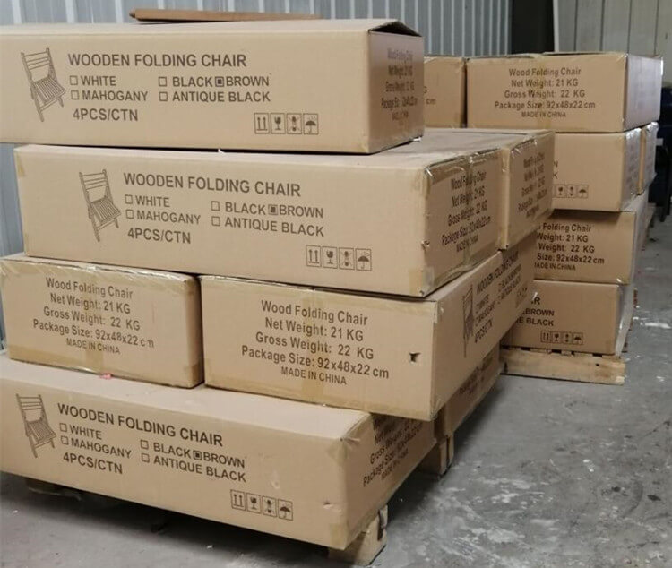 export boxes for chairs