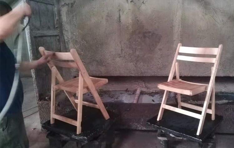 slat folding chair factory