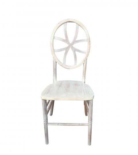 Wooden Multiple Patterns Backrest Phoenix Chair