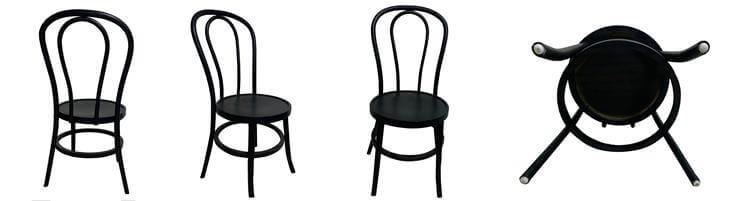 black thonet chairs wood