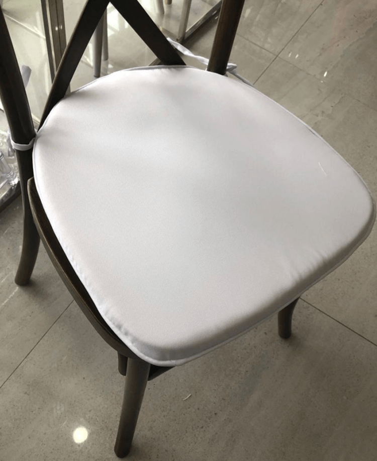 white cushions for crossback dining chairs