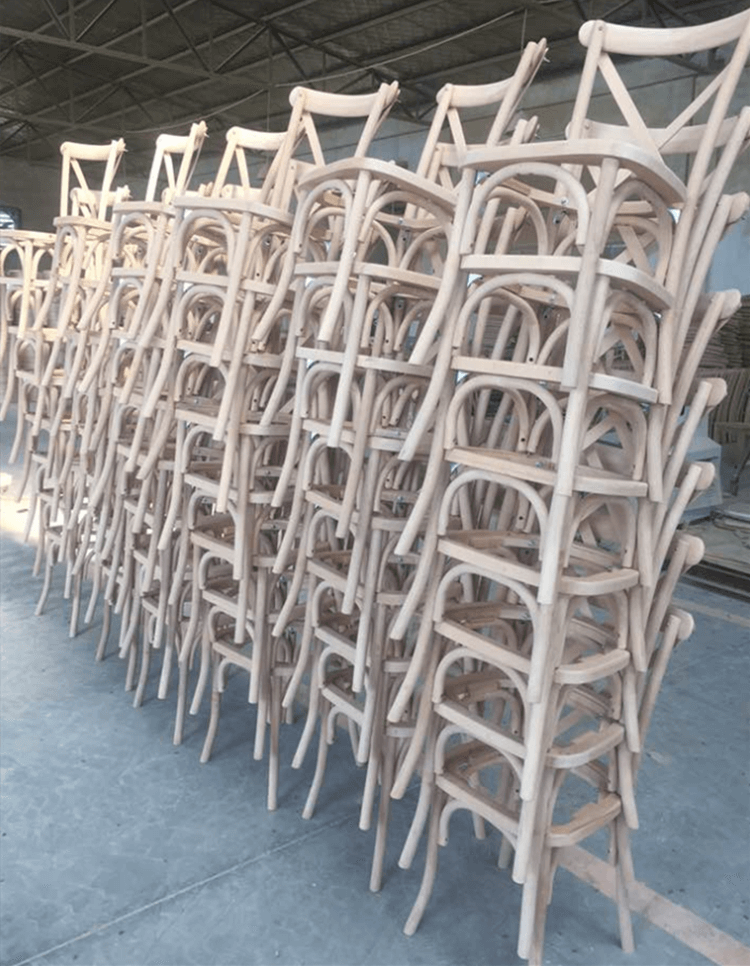 stackable crossback chair