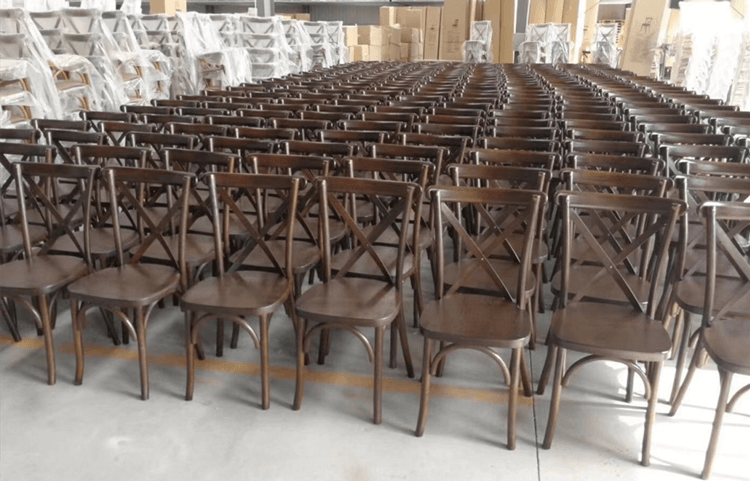 brown crossback chairs
