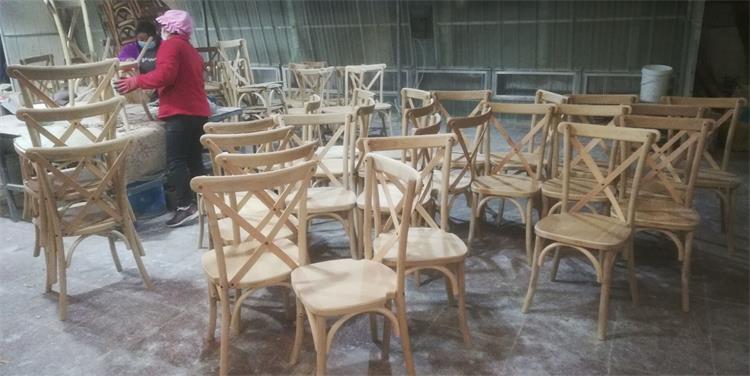 cross back chairs sanding work