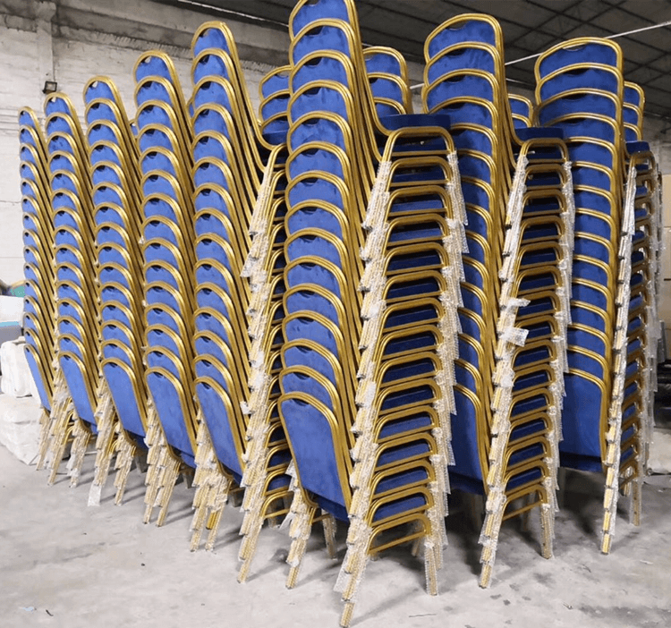 blue stackable banquet chairs