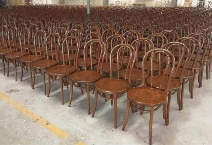 mass production of thonet chairs