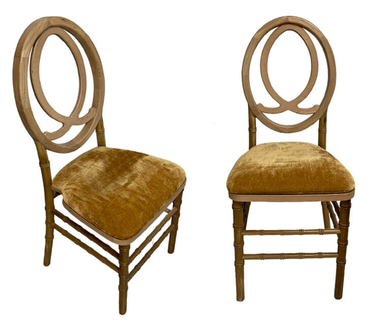 natural phoenix chairs with hard pads