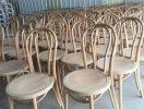 sanding work of thonet chairs