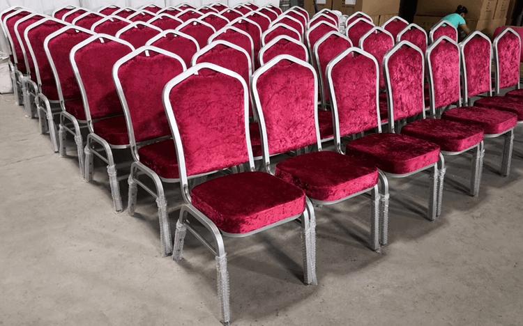 blush banquet chairs