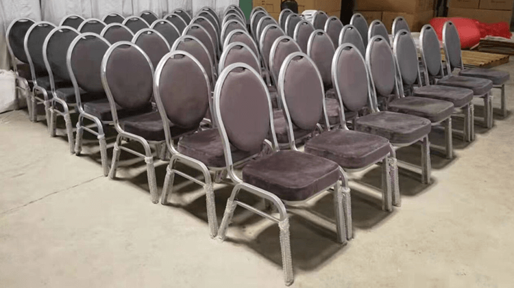 grey banquet chairs