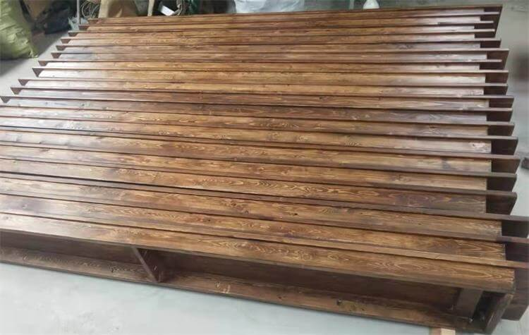brown wood benches