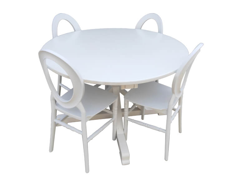 white Round Back Chairs Prices