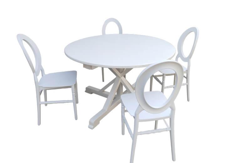 white Round Back Chairs Price