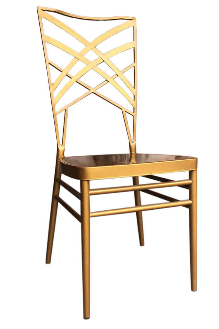 gold steel chairs wholesale
