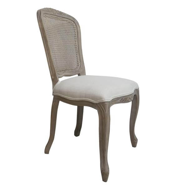 Rattan back louis chairs