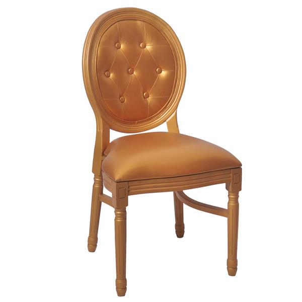 leather back louis chairs