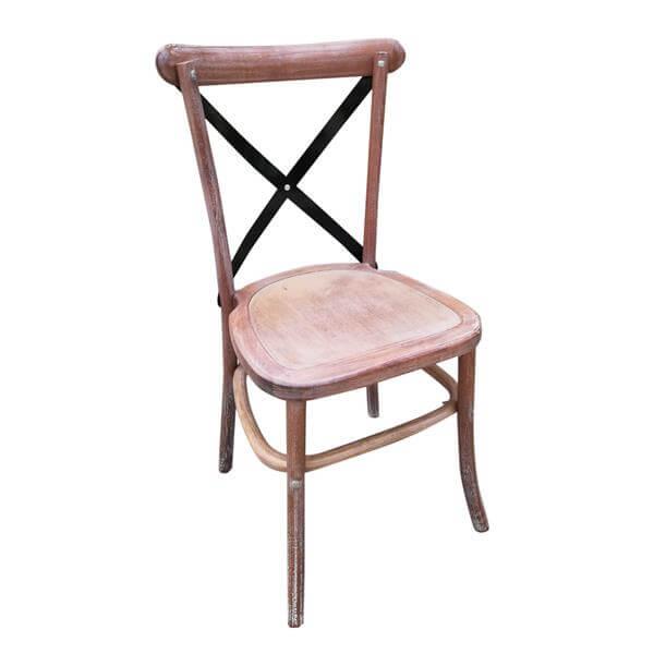 Metal X back Chair