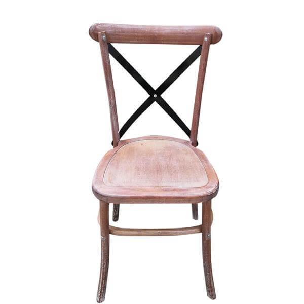 Metal X back Chairs