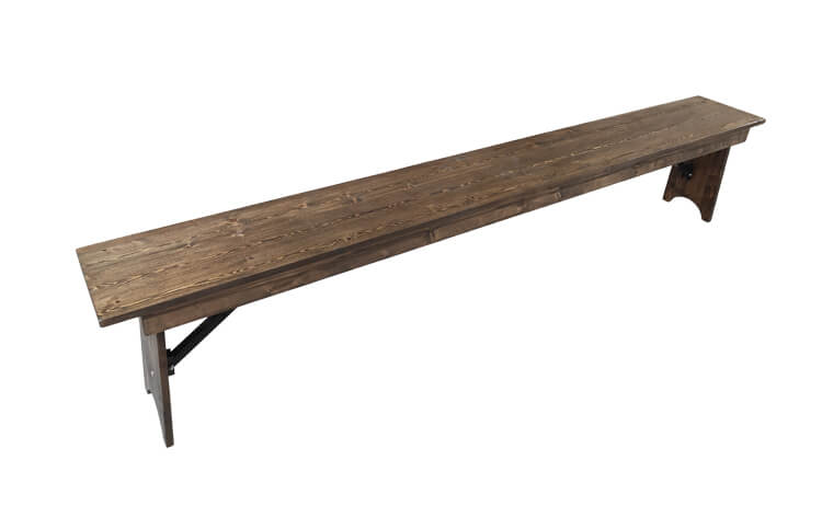 7 ft wooden benches