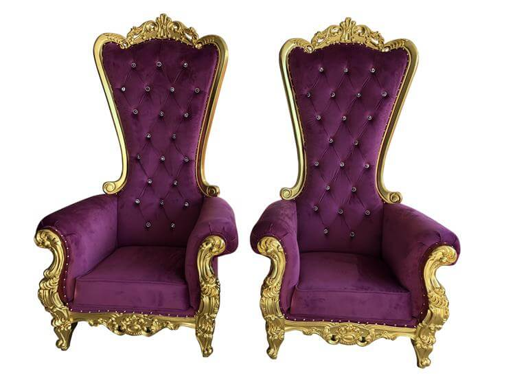 """72"""" highback throne chairs wholesale"""