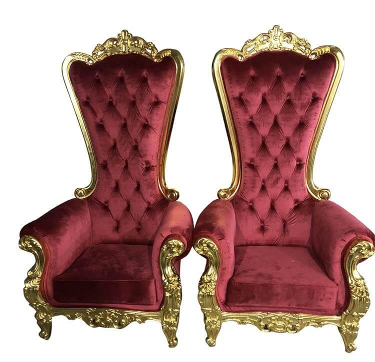 "72"" highback throne chairs"