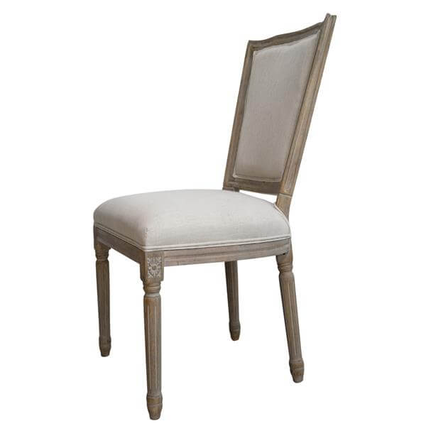 Square back louis chairs wood
