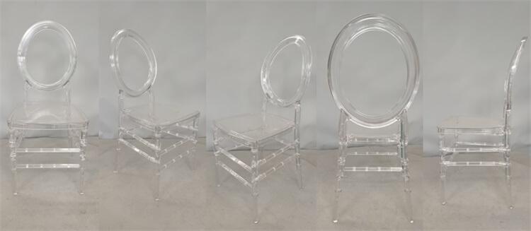 Clear O chiavari chairs