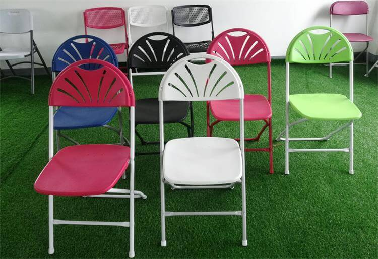 Colorful of Fan Back Chairs