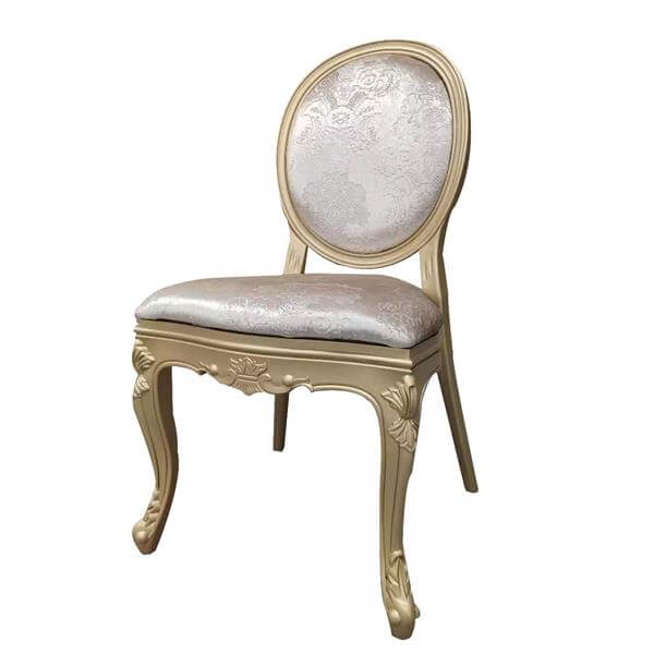 Gold resin Louis Chair