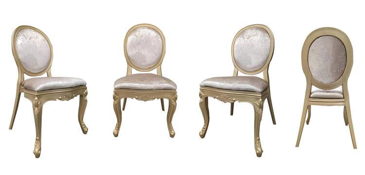 Golden resin Louis Chairs