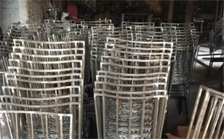 Iron dining chairs production