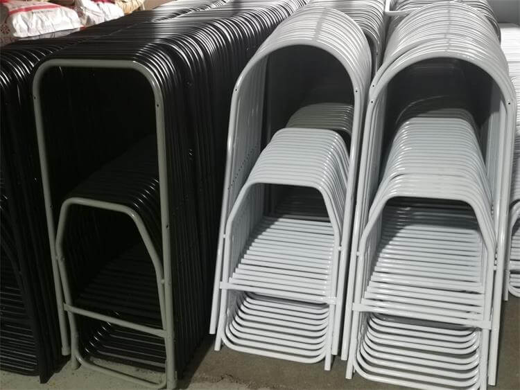 Metal frame of fan back chairs