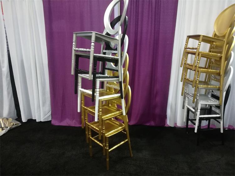 O back chiavari chair silver