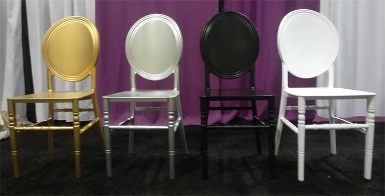 O back chiavari chair solid back