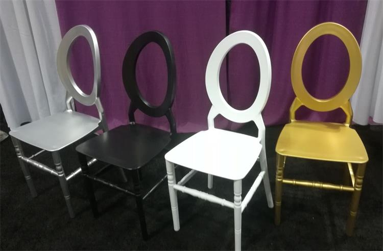 O back chiavari chair white