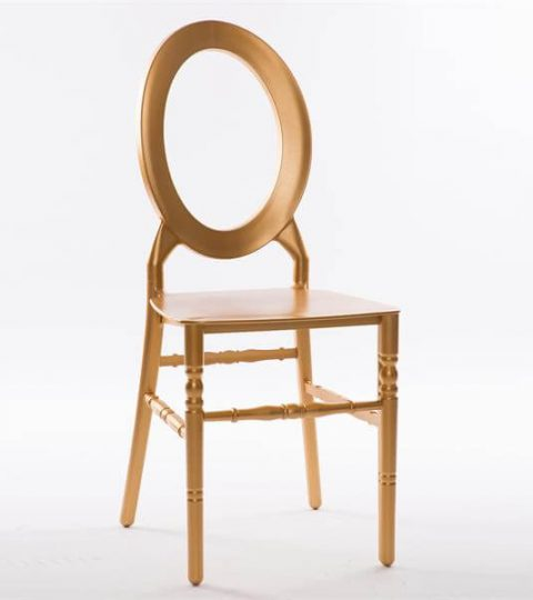 O Back Resin Chair Gold