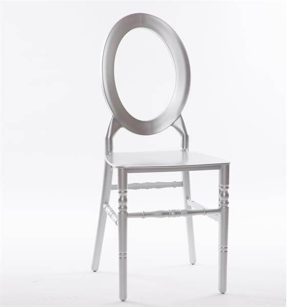 O back resin chair silver