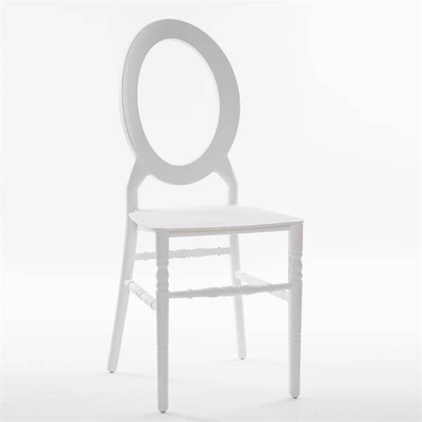 O back resin chair white
