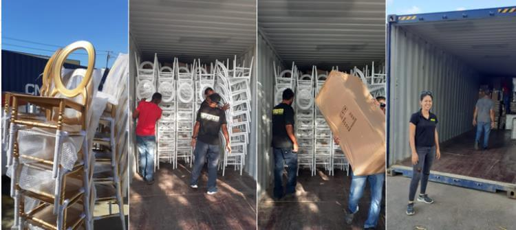 O chairs unloading