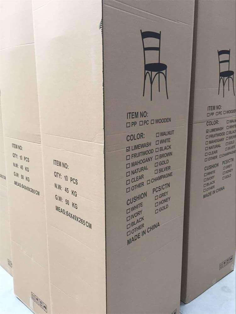 Limewash Chiavari Chair packaging