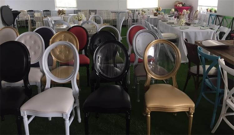 Our showroom of Resin Louis Chairs