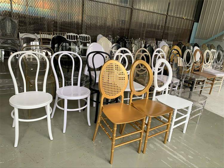 Gold O back chairs wholesale