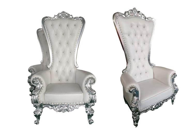 Royal Throne Chairs Wholesale silver