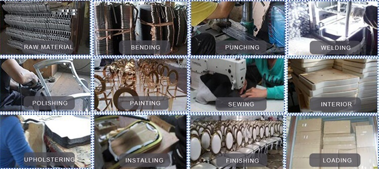 Silver Chameleon Chair Production Processing