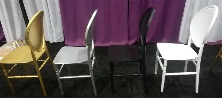 Solid O back chiavari chair gold