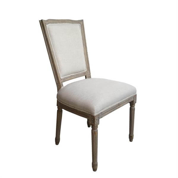 Square back louis chairs