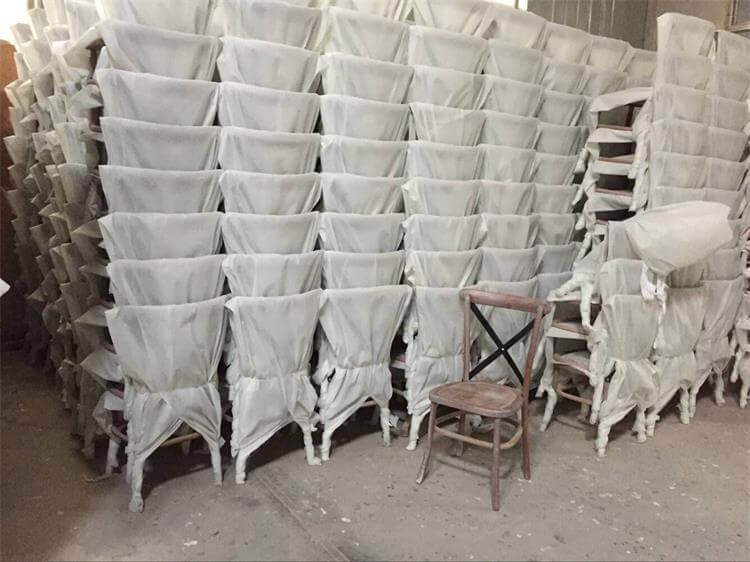 mass production of x back chairs