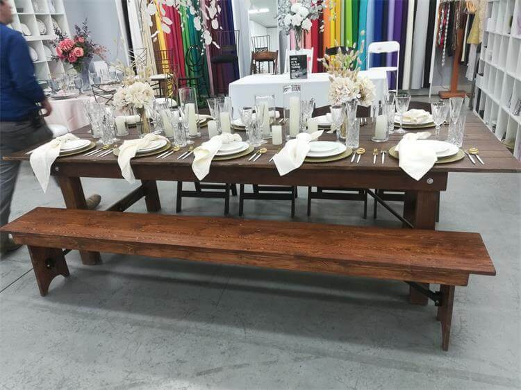 bench color match farm table